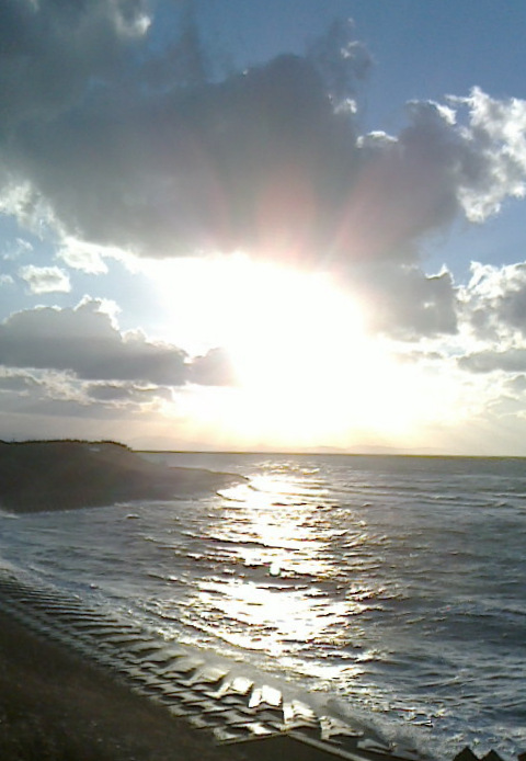 陸奥湾の夕日