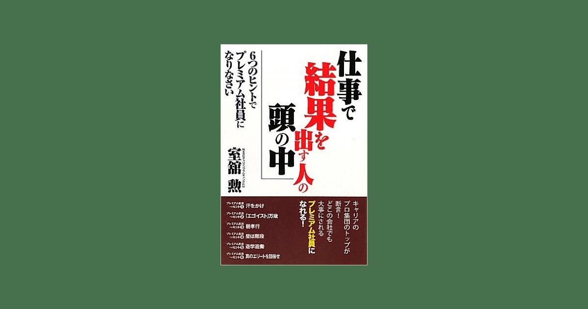 代表の室舘の新著『仕事で結果を出す人の頭の中』が、しののめ出版より出版